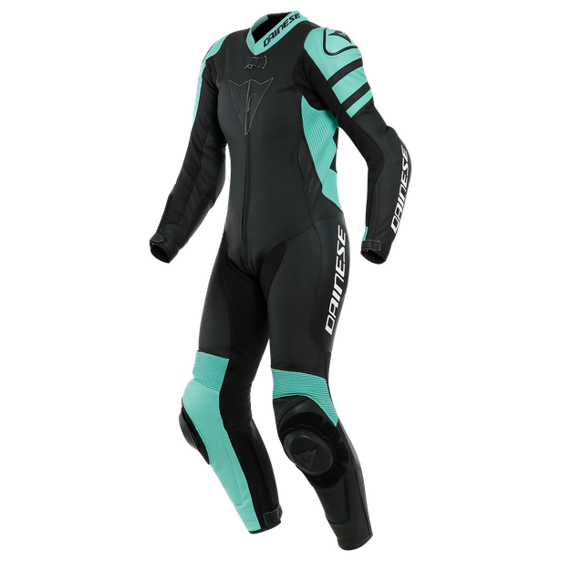 KILLALANE 1 PC PERF. LADY LEATHER SUIT BLACK-MATT/ACQUA-GREEN/BLACK- Sonderangebote Motorrad