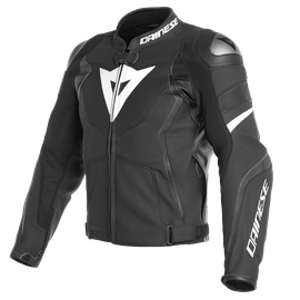 AVRO 4 PERF. LEATHER JACKET BLACK-MATT/BLACK-MATT/WHITE