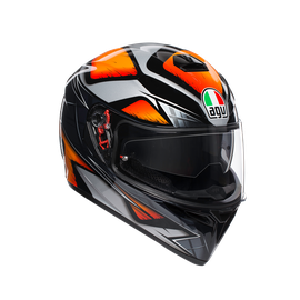 K3 SV MULTI ECE DOT - LIQUEFY BLACK/ORANGE