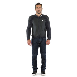 INTREPIDA LEATHER JACKET BLACK-MATT/BLACK-MATT/BLACK-MATT- Leder