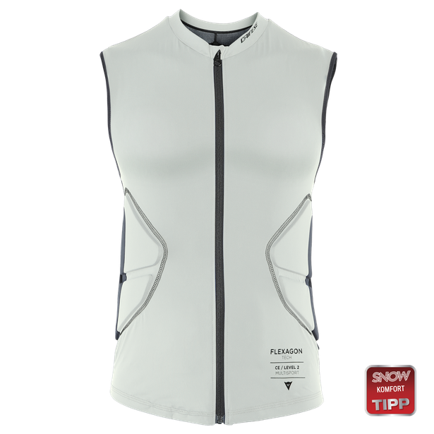 FLEXAGON WAISTCOAT WOMAN PURITAN-GRAY/STRETCH-LIMO- Ski Schutz