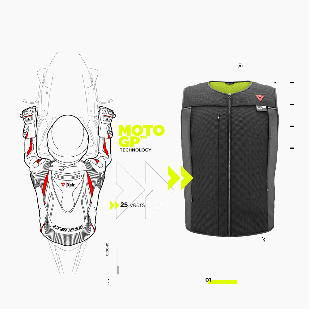 MotoGP™ airbag technology, in a jacket for everyone.