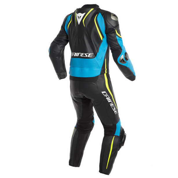 LAGUNA SECA 4 2PCS SUIT BLACK/FIRE-BLUE/FLUO-YELLOW- Zweiteiler