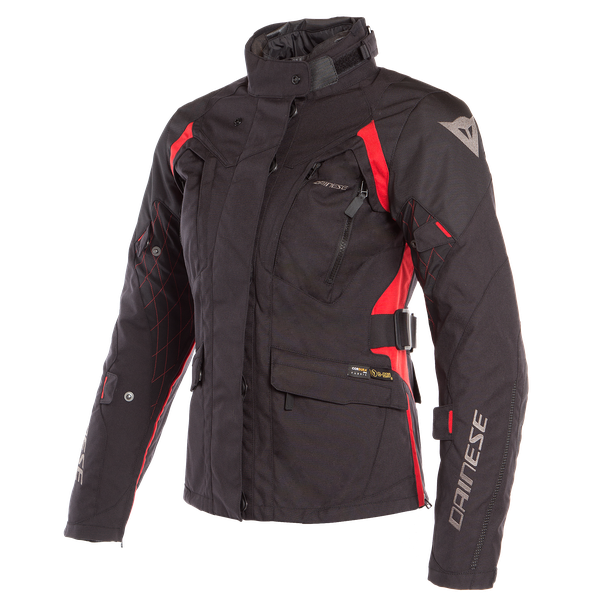 X-TOURER D-DRY LADY JACKET BLACK/BLACK/TOUR-RED- D-Dry®