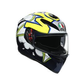 K3 SV E2205 MULTI - BUBBLE BLUE/WH/YELLOW FLUO
