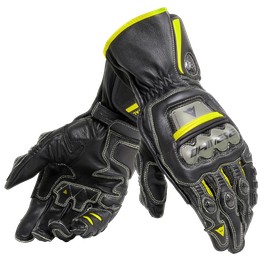 FULL METAL 6 GLOVES BLACK/BLACK/FLUO-YELLOW- Leder