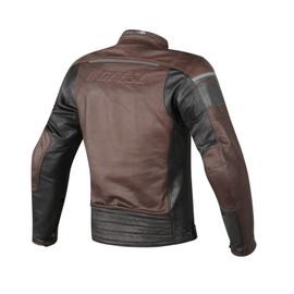 BLACKJACK PERFORATED LEATHER JKT DARK BROWN/BLACK/BLACK- Jackets