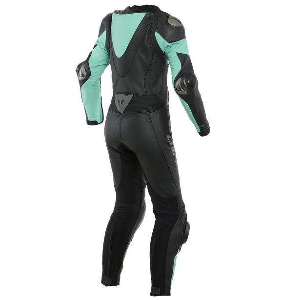 IMATRA LADY LEATHER 1PC SUIT PERF. BLACK/ACQUA-GREEN- Women