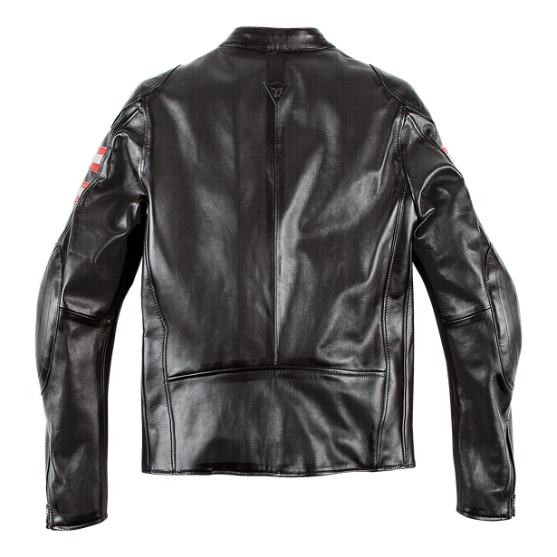 RAPIDA72 PERF. LEATHER JACKET BLACK- Motorbike