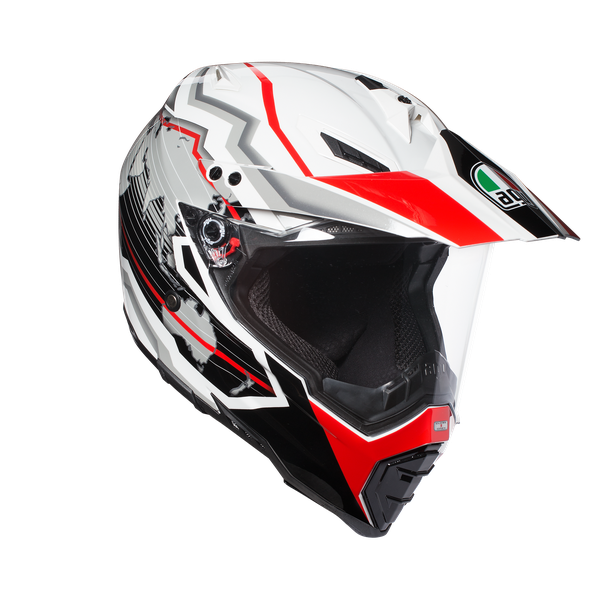 AX-8 DUAL EVO E2205 MULTI - EARTH WHITE/BLACK/RED - Full-face