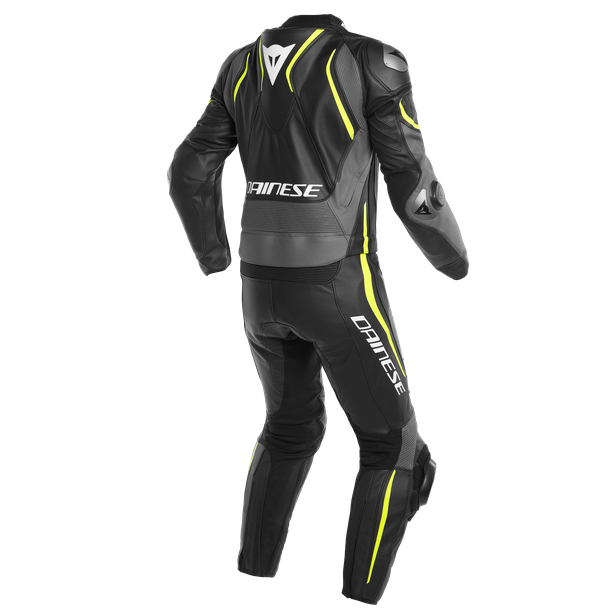 LAGUNA SECA 4 2PCS SUIT BLACK/CHARCOAL-GRAY/FLUO-YELLOW- Zweiteiler
