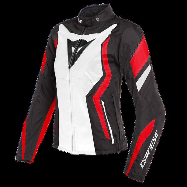 EDGE LADY TEX JACKET BLACK-MATT/WHITE/LAVA-RED- Textile
