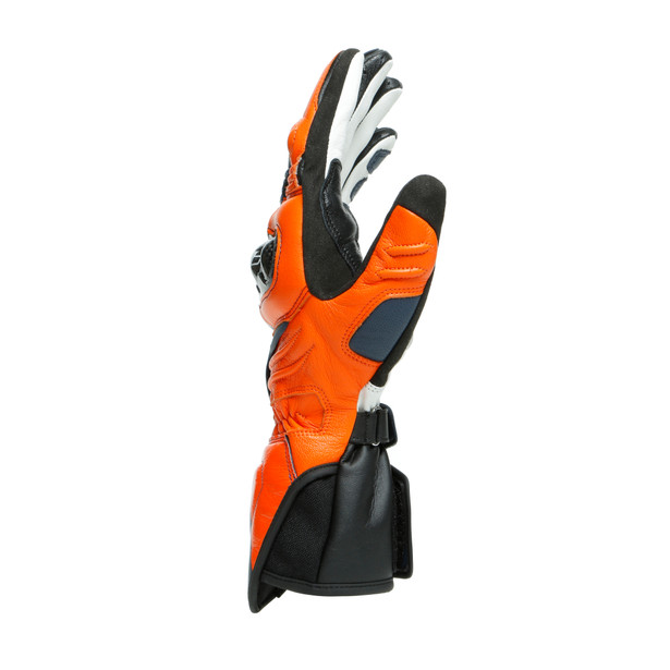 CARBON 3 LONG GLOVES BLACK-IRIS/FLAME-ORANGE/FLUO-RED- Cuir