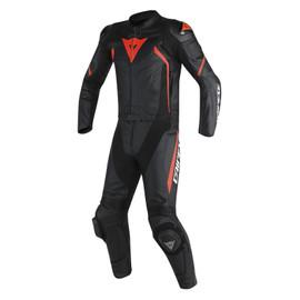 AVRO D2 2 PCS SUIT BLACK/BLACK/RED-FLUO- Two Piece Suits