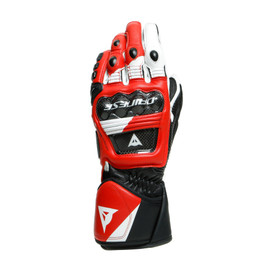 DRUID 3 GLOVES BLACK/WHITE/LAVA-RED- Leder