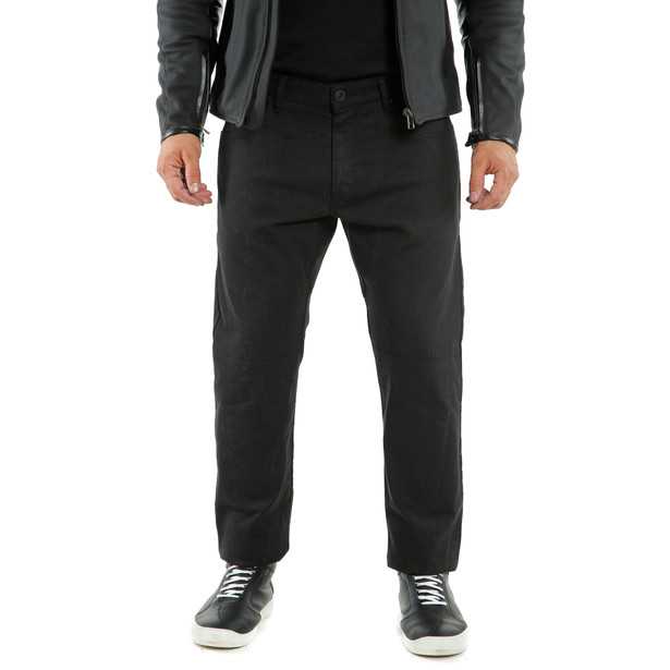 CASUAL REGULAR TEX PANTS BLACK- Pantalons