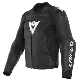 SPORT PRO LEATHER JACKET BLACK/WHITE