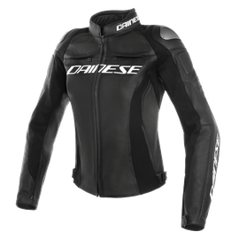 RACING 3 PERF. LADY LEATHER JACKET BLACK/BLACK/BLACK- Cuir
