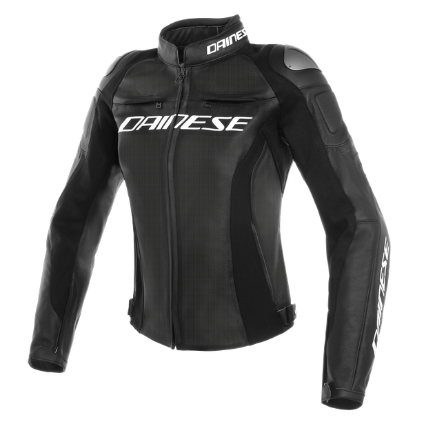 RACING 3 PERF. LADY LEATHER JACKET BLACK/BLACK/BLACK- Pelle