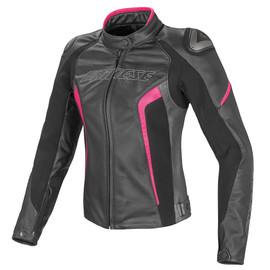 RACING D1 PELLE LADY BLACK/ANTHRACITE/FUCHSIA- Jackets