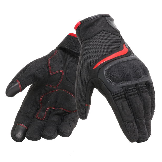 AIR MASTER GLOVES BLACK/RED- Gants