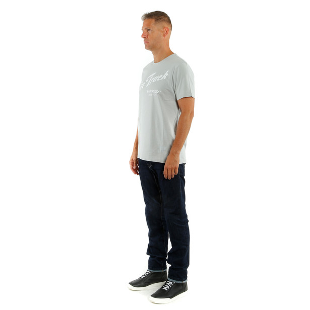 PADDOCK TRACK T-SHIRT GLACIER-GRAY/WHITE- Casual Wear
