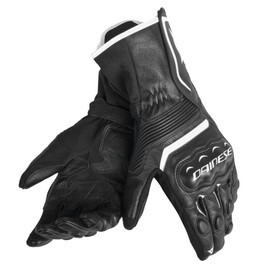 ASSEN GLOVES BLACK/BLACK/WHITE- Leather