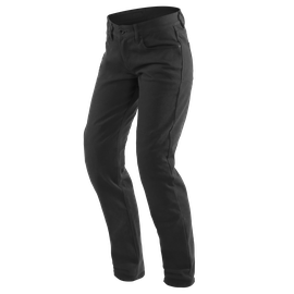 CASUAL SLIM LADY TEX PANTS BLACK