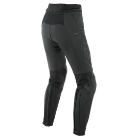 PONY 3 WOMAN LEATHER PANTS BLACK-MATT- undefined