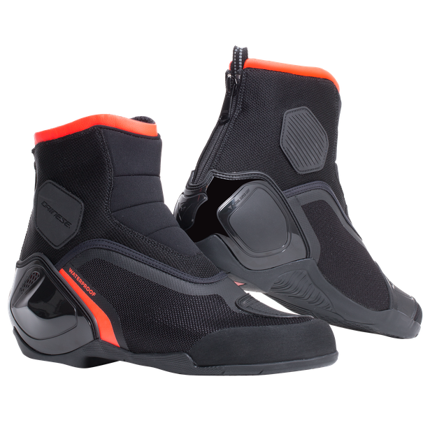DINAMICA D-WP SHOES BLACK/FLUO-RED- Moto