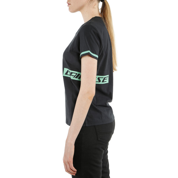PADDOCK LADY T-SHIRT  BLACK/AQUA-GREEN- Women Accessories