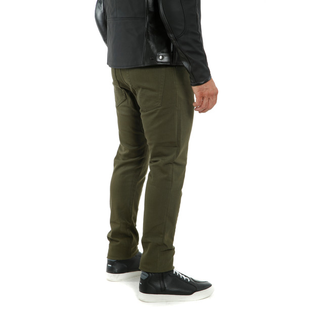 CASUAL SLIM TEX PANTS OLIVE- Pantaloni