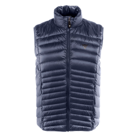 PACKABLE DOWNVEST MAN BLACK-IRIS