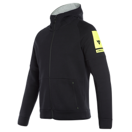 DAINESE FULL-ZIP HOODIE BLACK- Sweats