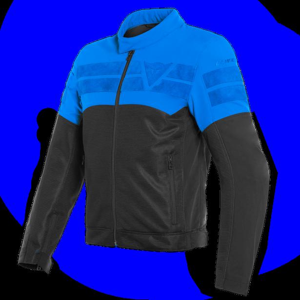 AIR-TRACK TEX JACKET BLACK/LIGHT-BLUE- Textile