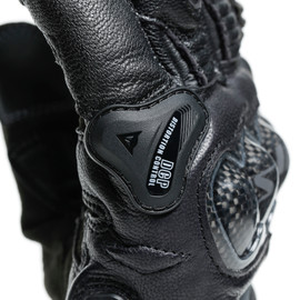 CARBON 3 SHORT GLOVES BLACK/BLACK- Leder