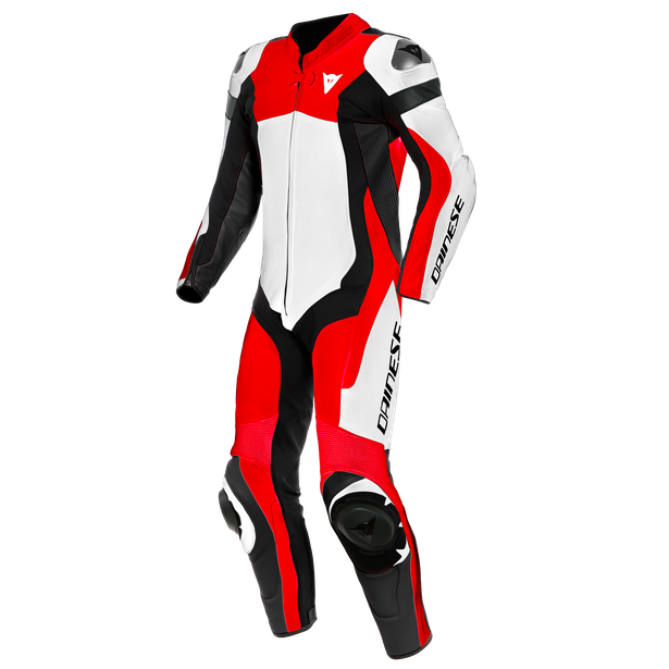 ASSEN 2 1 PC. PERF. LEATHER SUIT WHITE/LAVA-RED/BLACK- One Piece Suits
