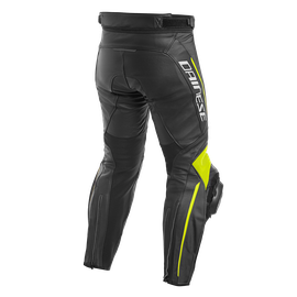 DELTA 3 LEATHER PANTS BLACK/BLACK/FLUO-YELLOW- Cuir