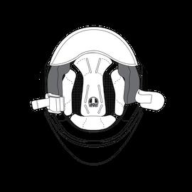 AGV CHEEK PADS ORBYT (XS/M) - GREY/BLACK - Accessori