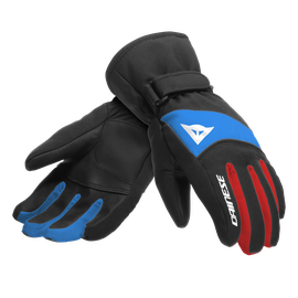 HP SCARABEO GLOVES JUNIOR BLACK-TAPS/HIGH-RISK-RED/LAPIS-BLUE