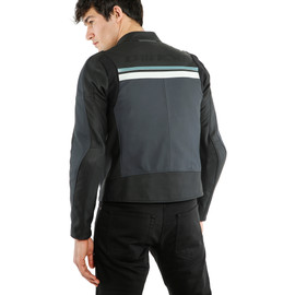 HF 3 LEATHER JACKET BLACK/EBONY/N.-ATLANTIC/GLACIER-GRAY- Leather