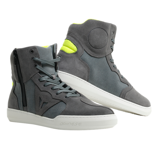 METROPOLIS SHOES ANTHRACITE/FLUO-YELLOW- Textile