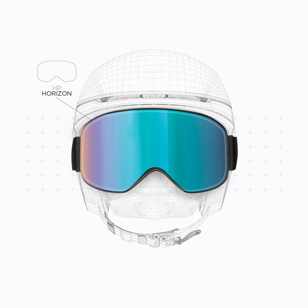 Perfect integration between goggles and helmet