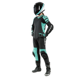 KILLALANE 1 PC PERF. LADY LEATHER SUIT BLACK-MATT/ACQUA-GREEN/BLACK- One Piece Suits