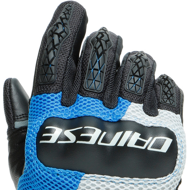 D-EXPLORER 2 GLOVES GLACIER-GRAY/BLUE/LAVA-RED/BLACK- Leder