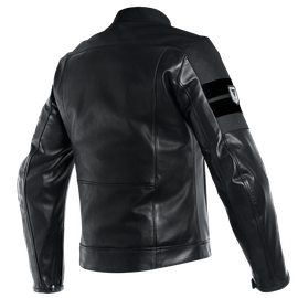 8-TRACK LEATHER JACKET BLACK/BLACK/BLACK- Leather