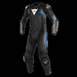 AVRO D2 2PCS SUIT BLACK/MATT-GREY/PERFORMANCE-BLUE- Divisibili