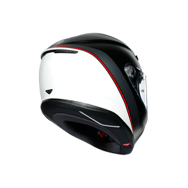 K6 E2205 MULTI - MINIMAL PURE MATT BLACK/WHITE/RED - K6