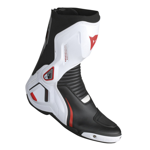 COURSE D1 OUT BOOTS BLACK/WHITE/RED-LAVA- Cuir