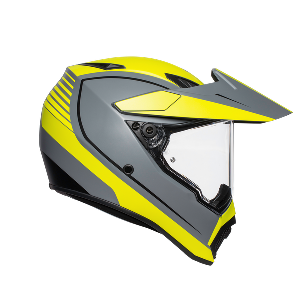 AX9 MULTI ECE DOT - PACIFIC ROAD MATT GREY/YELLOW FLUO/BLACK - AX9